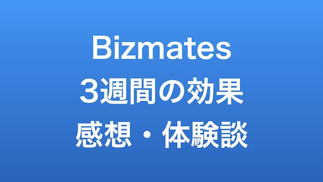 Bizmates 3週間の効果 感想 体験談