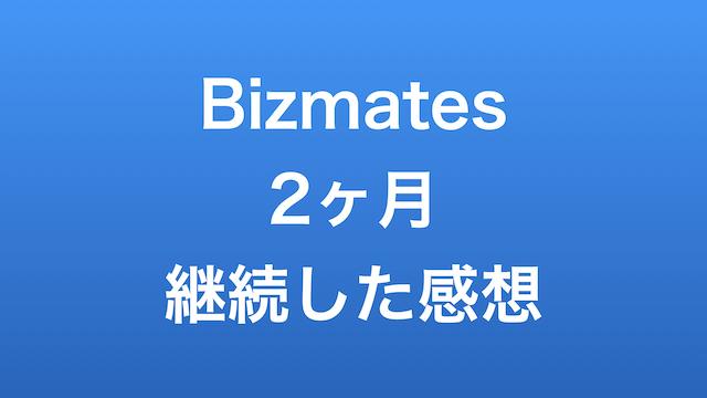 Bizmates2ヶ月継続した感想