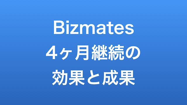 Bizmates4ヶ月継続の効果と成果